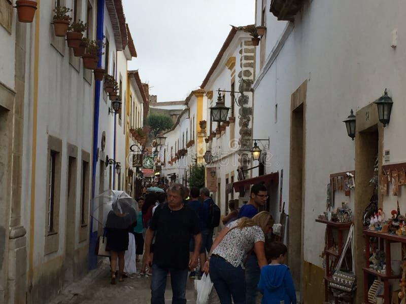 Miasteczko Obidos w Portugalia zdjęcia stock