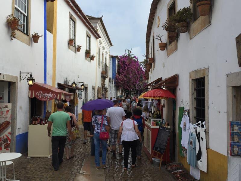 Miasteczko Obidos w Portugalia zdjęcie royalty free