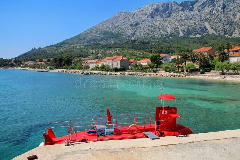 Miasteczko Orebic nabrzeże na Peljesac półwysepie, Chorwacja obraz royalty free
