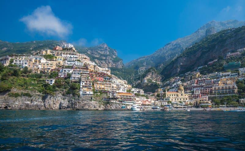 Miasteczko Positano, Amalfi wybrzeże, Campania, Włochy zdjęcie royalty free