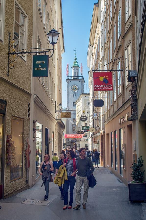Miasteczko Salzburg, Austria fotografia stock