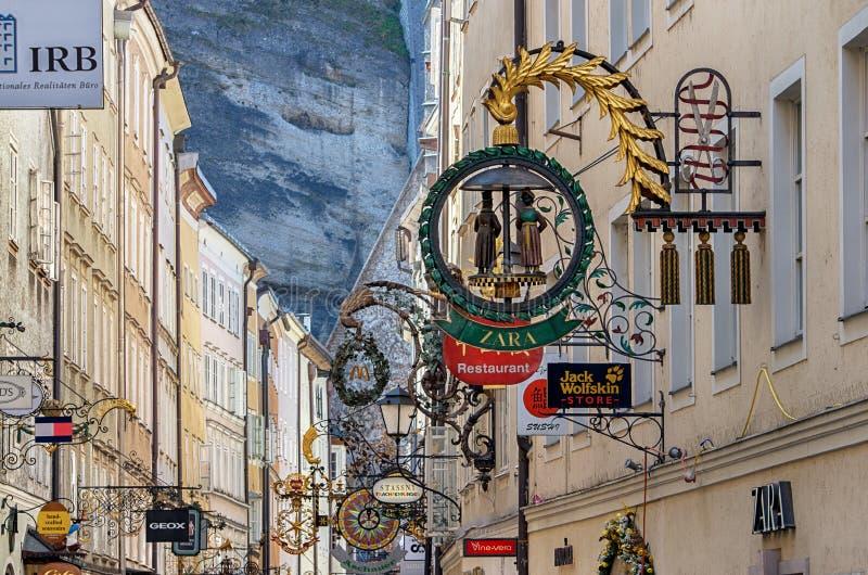 Miasteczko Salzburg, Austria obrazy stock