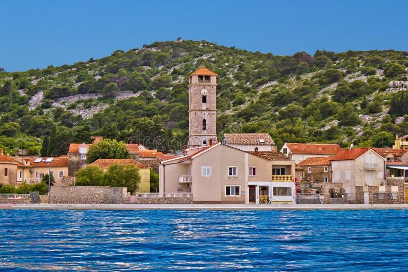 Miasteczko Tisno nabrzeże, Chorwacja zdjęcia stock