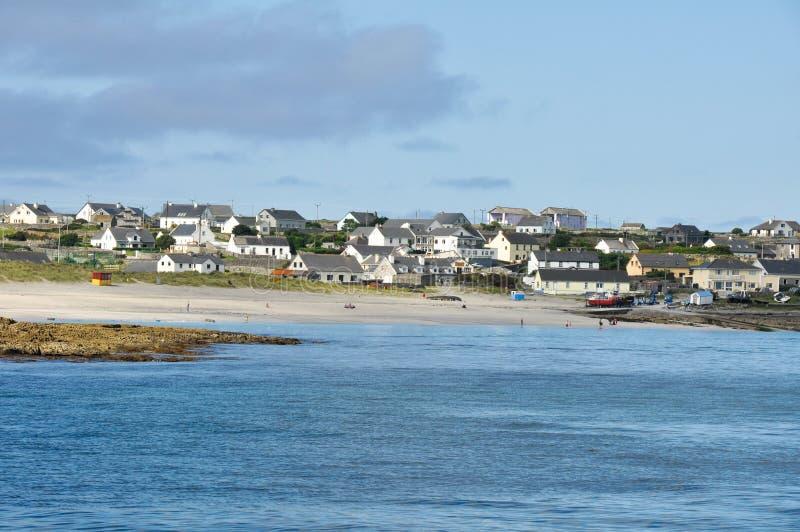 Miasteczko w Inisheer, Aran wyspy (Irlandia) zdjęcie stock