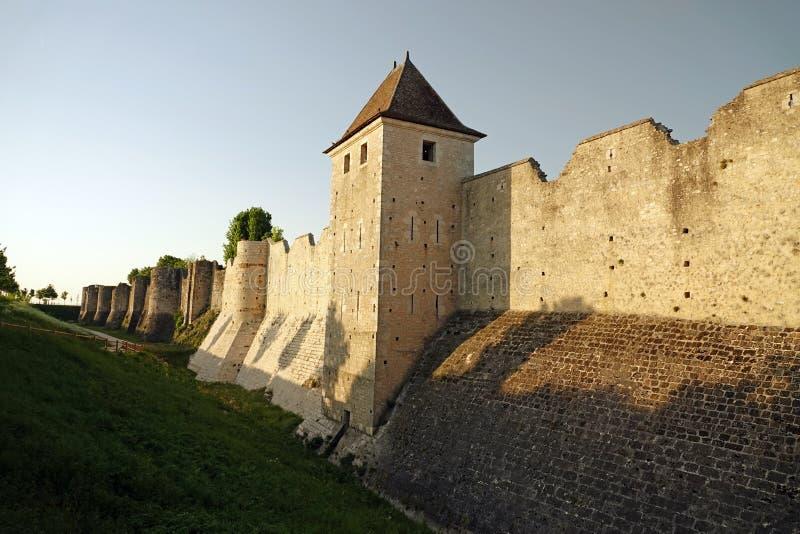 Miasto ściany średniowieczny Provins w Francja obraz royalty free