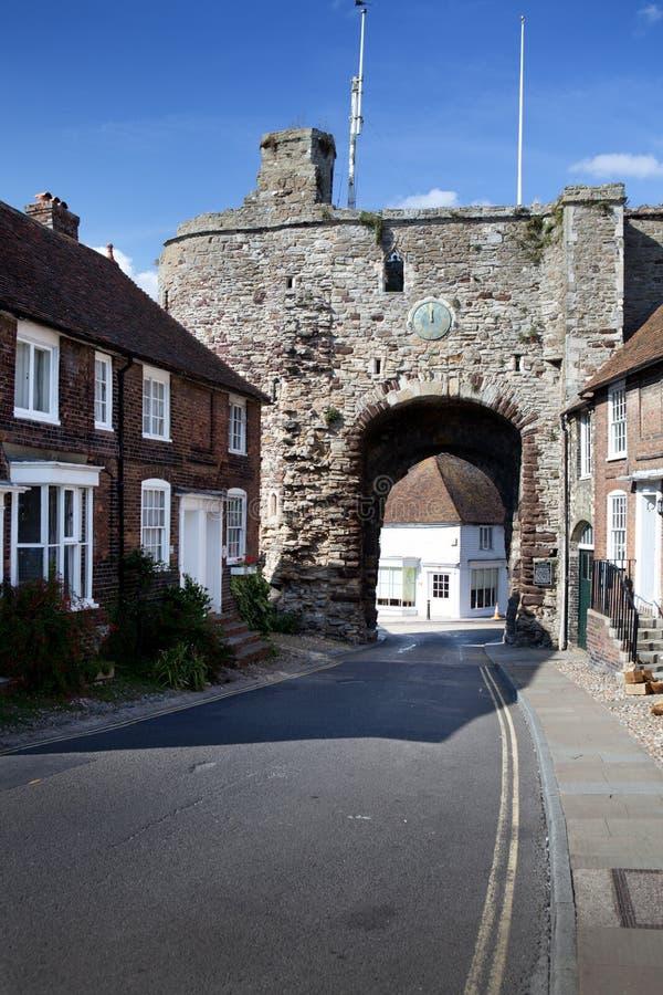 Miasto ściany bramy żyto England zdjęcia royalty free