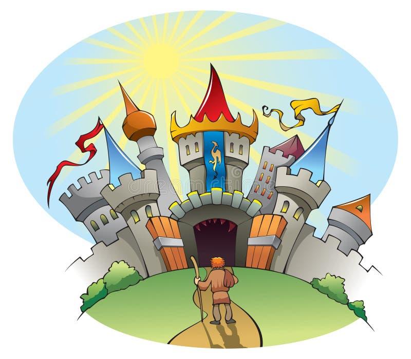 miasto średniowieczny ilustracja wektor