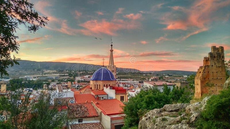 Miasto średniowieczny w Walencja zdjęcia royalty free