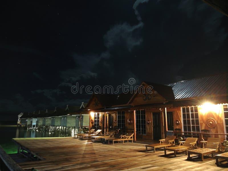 miasto światła na noc obraz stock