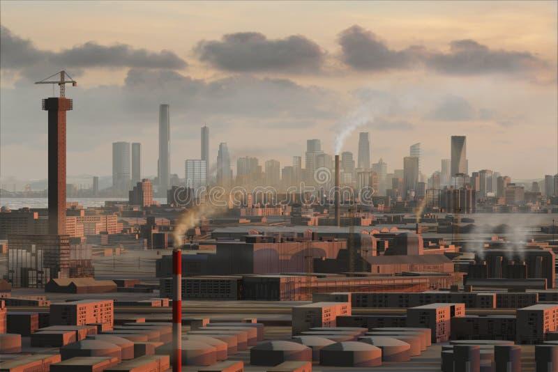 miasto 19 wymyślonym ilustracja wektor