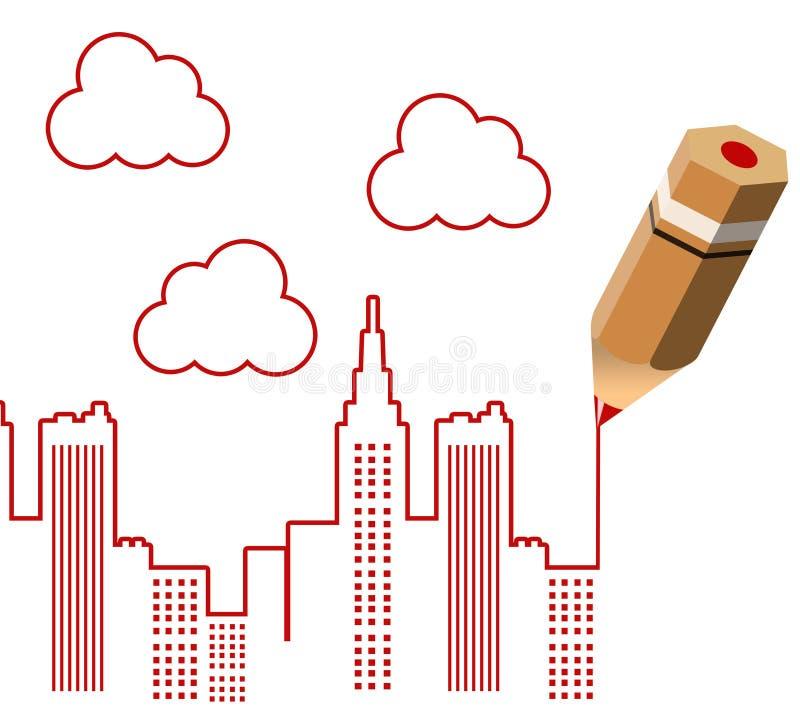 Download Miasto ilustracji. Ilustracja złożonej z konstrukcja - 28972782