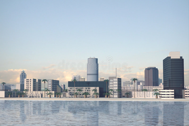miasto 78 wymyślonym royalty ilustracja