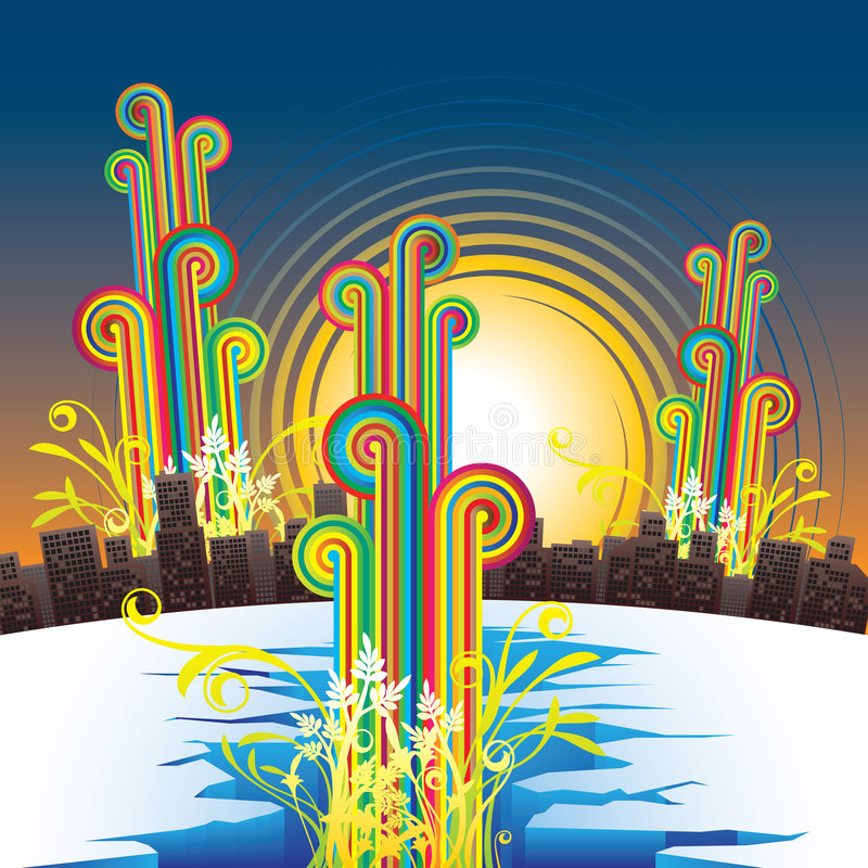 miasto abstrakcyjne ilustracji