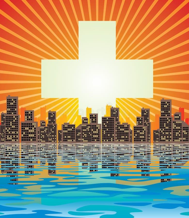 miasto abstrakcyjne ilustracja wektor