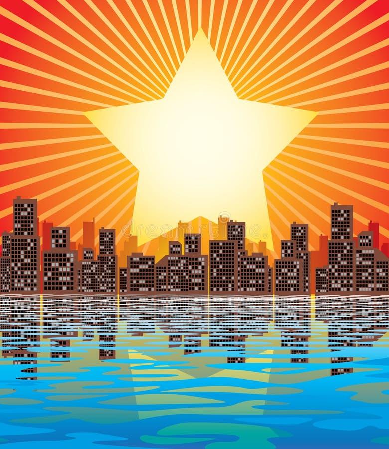 miasto abstrakcyjne royalty ilustracja