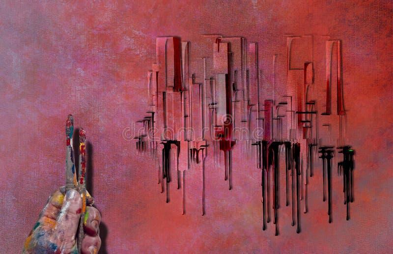 Miasto abstrakt ilustracja wektor