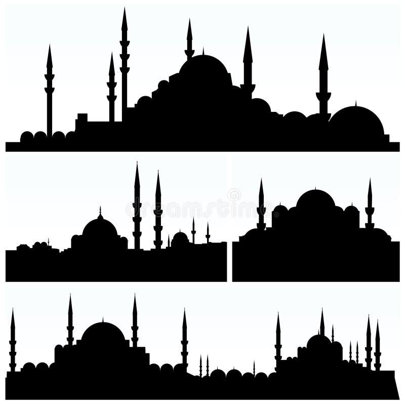 miasto arabeskowe sylwetki royalty ilustracja
