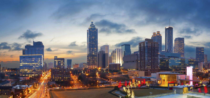 Miasto Atlanta. zdjęcia royalty free