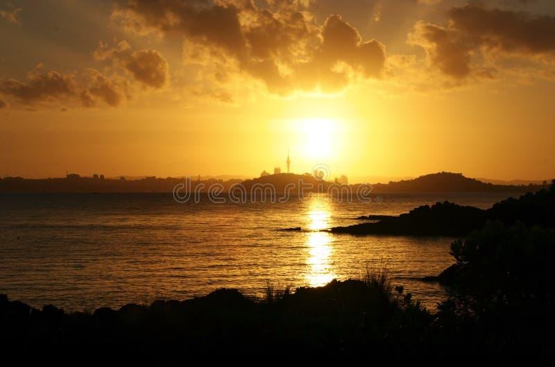 miasto auckland słońca fotografia stock