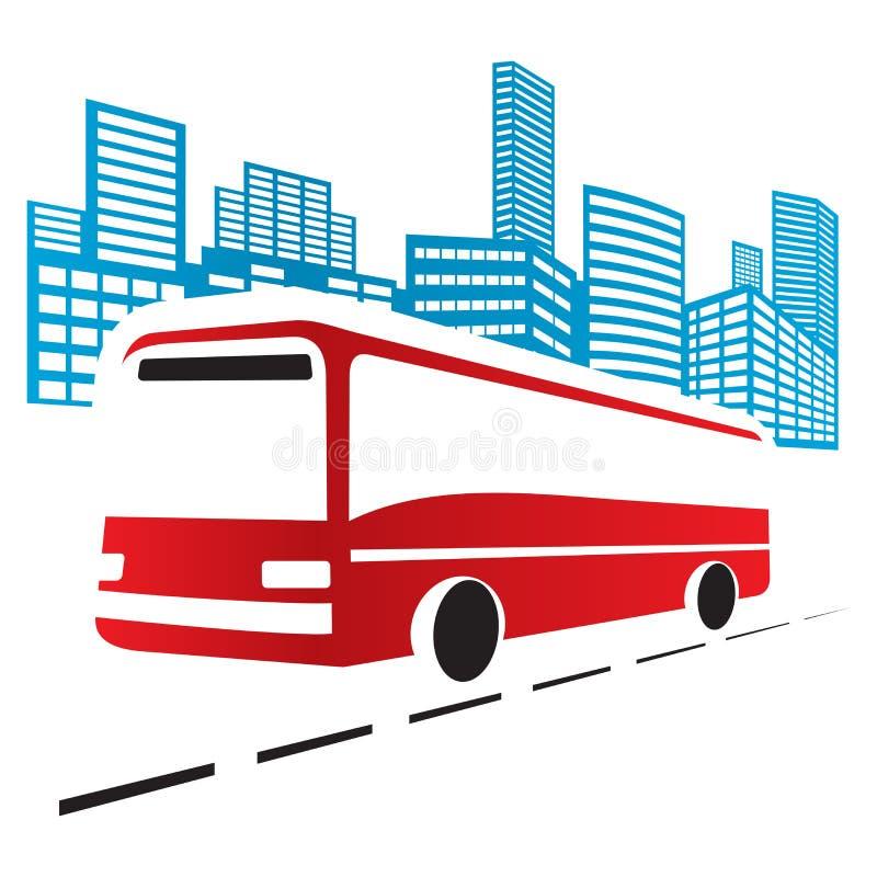 Miasto autobus ilustracja wektor
