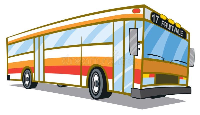 Miasto autobus ilustracji