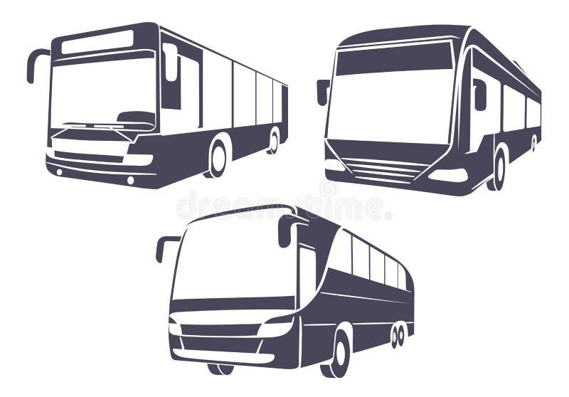 Miasto autobus odosobniony wizerunek na białym tle ilustracji