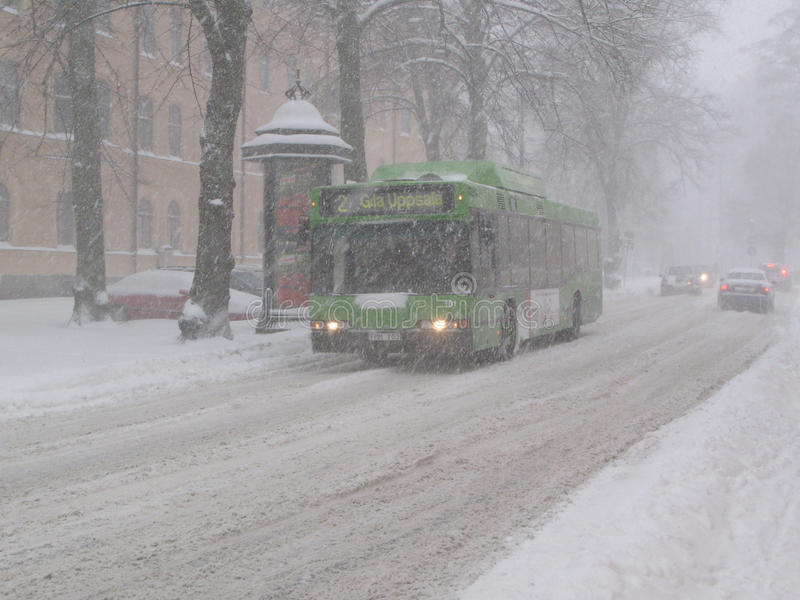 Miasto autobus w miecielicie obrazy royalty free