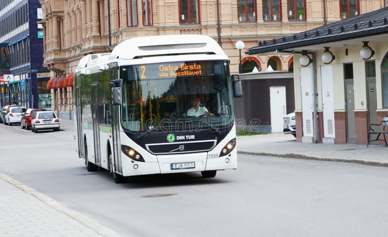 Miasto autobus w Sundsvall obraz stock