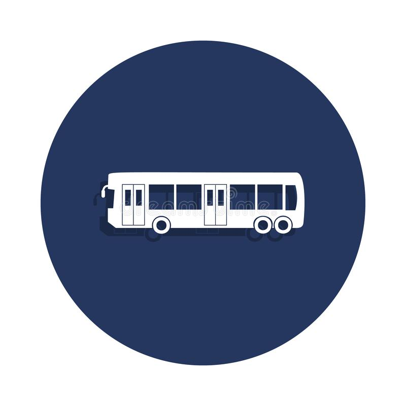 miasto autobusowa ikona w odznaka stylu Jeden samochód inkasowa ikona może używać dla UI, UX ilustracja wektor