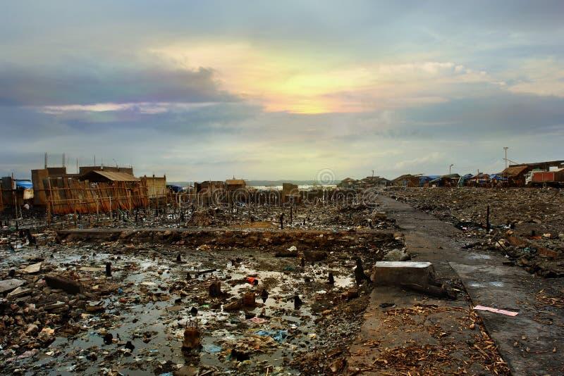 miasto azjatykcia katastrofa obraz stock