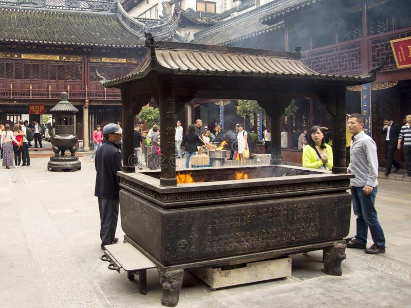 Miasto bóg świątynia lub Chenghuang Miao, Szanghaj obraz stock