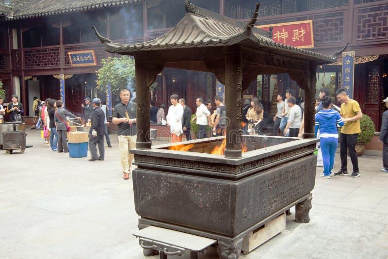 Miasto bóg świątynia lub Chenghuang Miao, Szanghaj obrazy stock