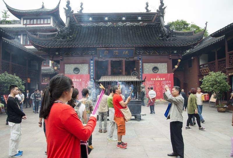 Miasto bóg świątynia lub Chenghuang Miao w Szanghaj, fotografia royalty free