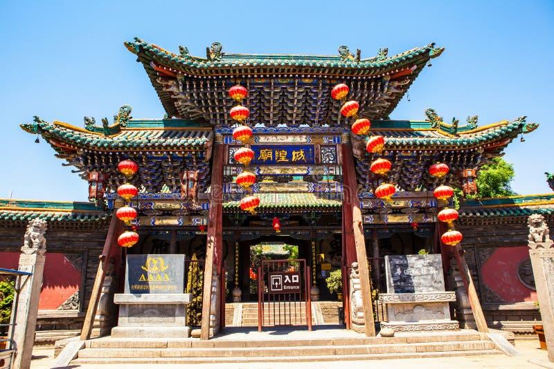 Miasto bóg głównej bramy antycznego miasta Świątynny budynek zdjęcia royalty free