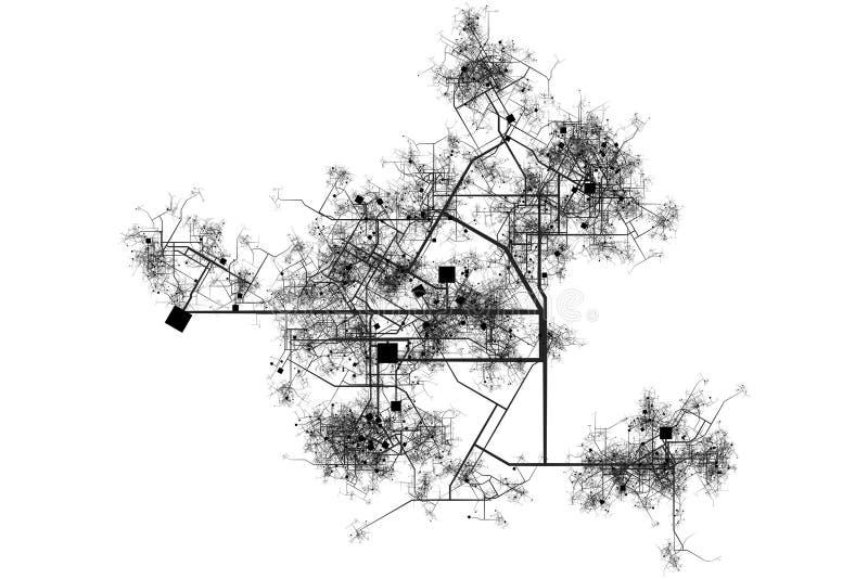 miasto błękitny druki ilustracji