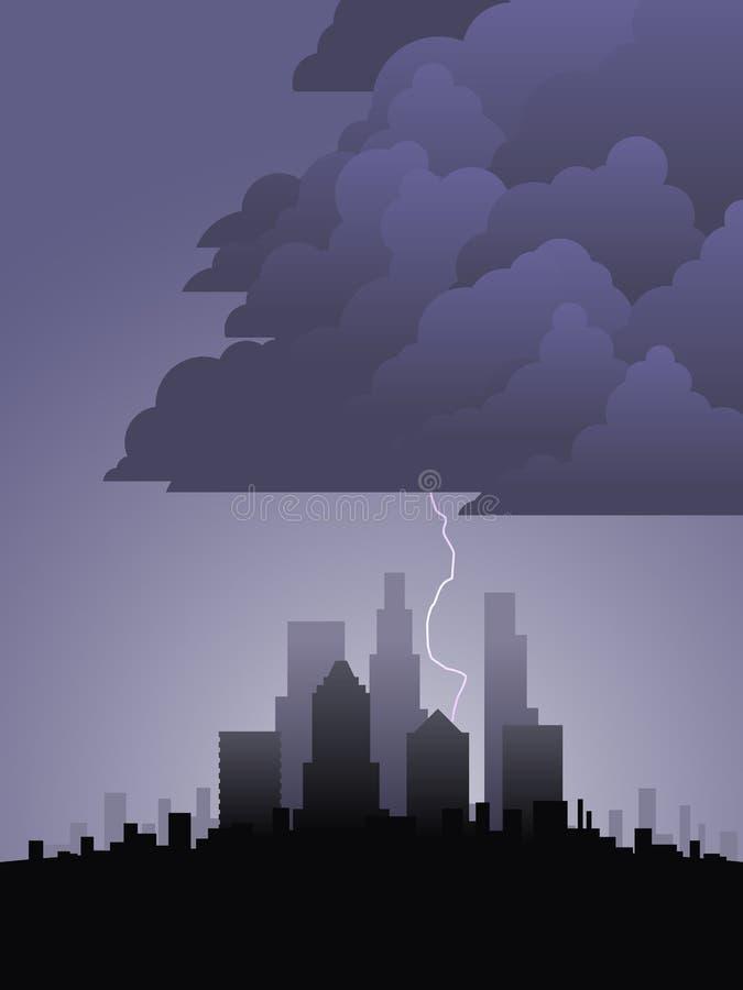 miasto błyskawica ilustracja wektor