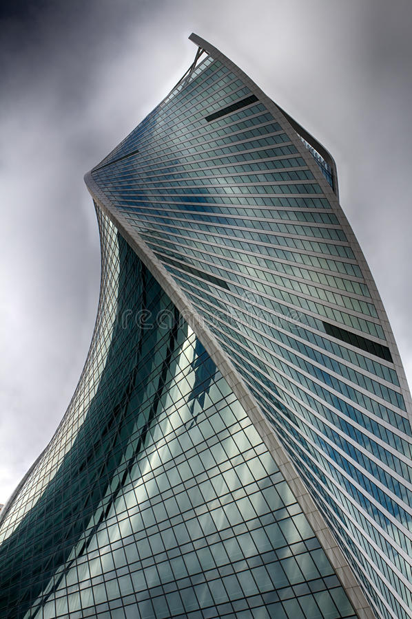 miasto Basztowa ewolucja Centrum biznes w Rosja Dyrygentur transakcje finansowe moscow Rosji zdjęcie royalty free