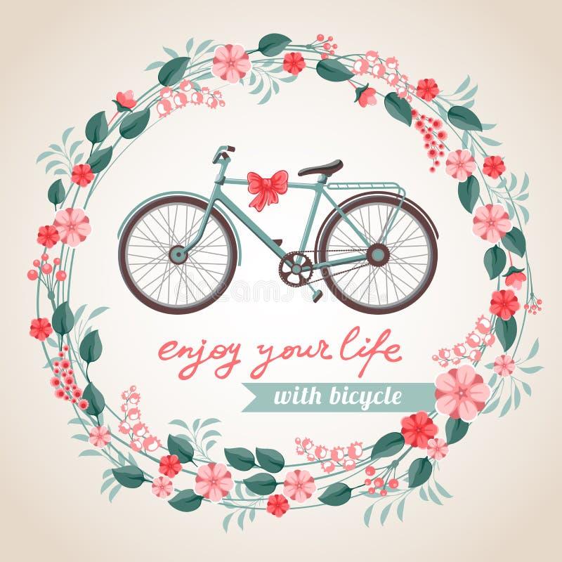 Miasto bicykl ilustracja wektor