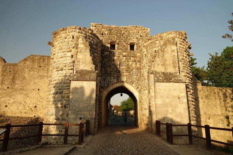 Miasto brama przy ścianami średniowieczny Provins w Francja obraz royalty free