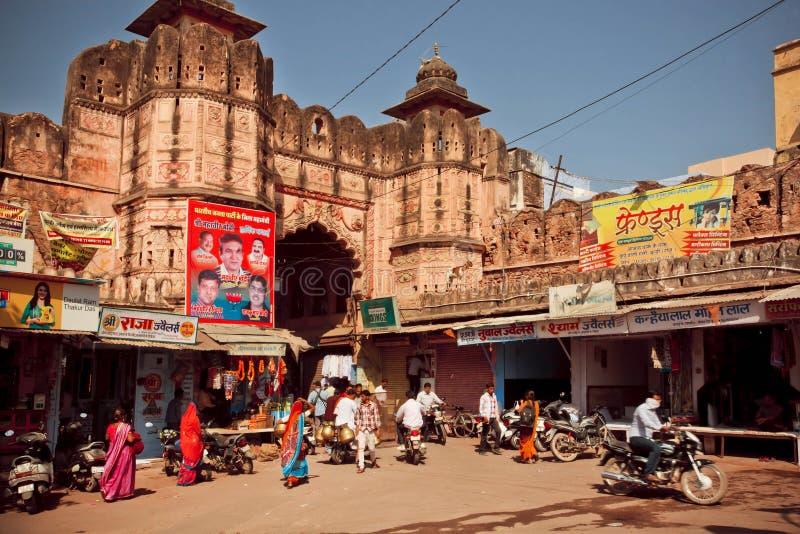 Miasto bramy w Indiańskim architektonicznym stylu obraz stock