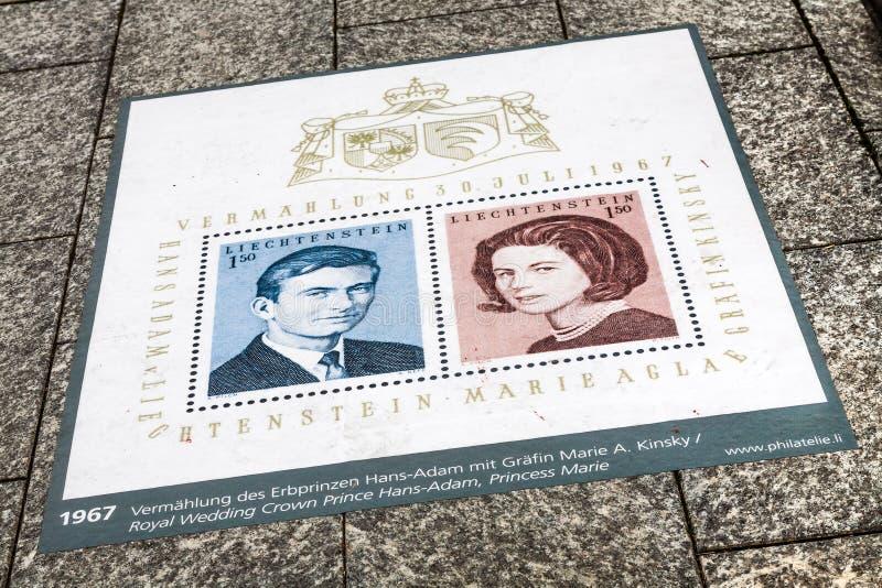Miasto bruk i poczta znaczek obraz stock
