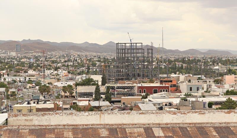 Miasto budowa w chihuahua Meksyk i widok obraz royalty free
