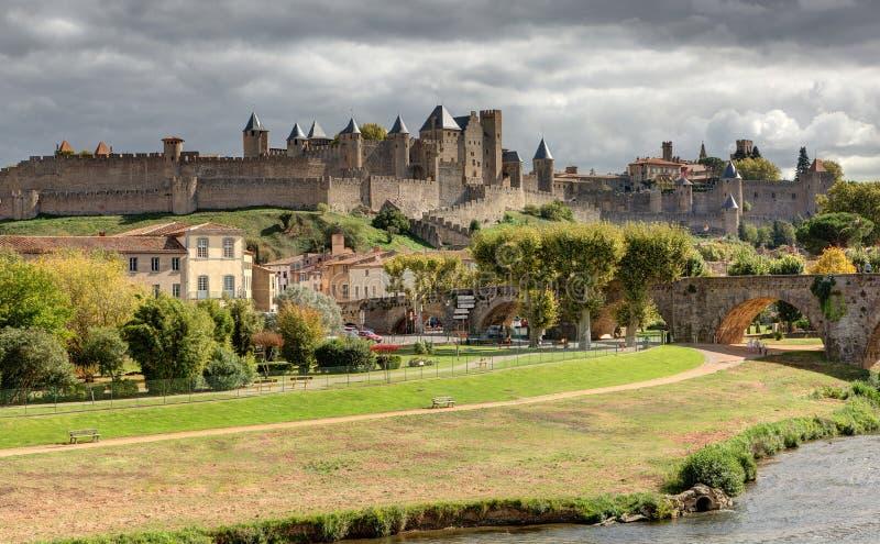 Miasto Carcassonne, Aude - Francja zdjęcia stock