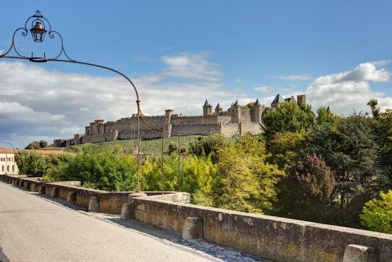 Miasto Carcassonne, Aude - Francja zdjęcie royalty free