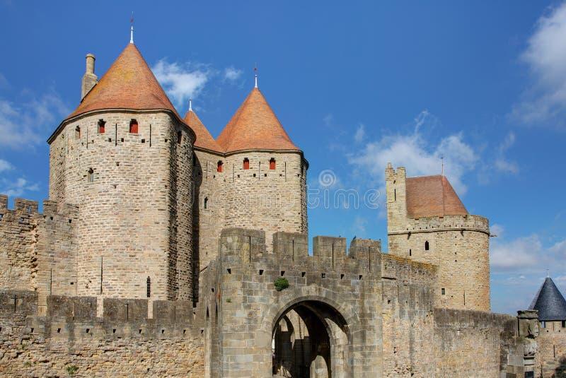 Miasto Carcassonne, Aude - Francja obrazy royalty free