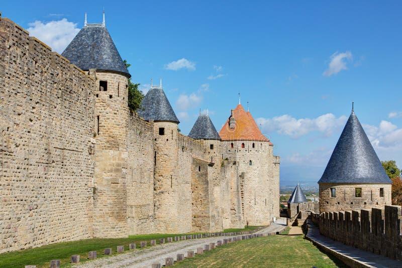 Miasto Carcassonne, Aude - Francja obrazy stock
