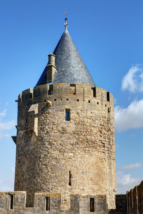 Miasto Carcassonne, Aude - Francja fotografia stock
