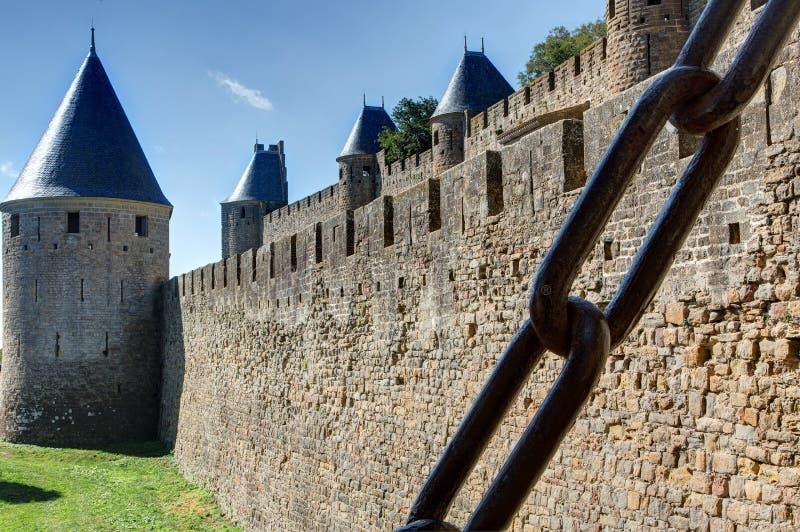 Miasto Carcassonne, Aude - Francja zdjęcie stock