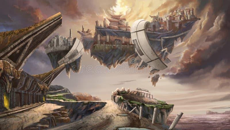 Miasto Celebes royalty ilustracja