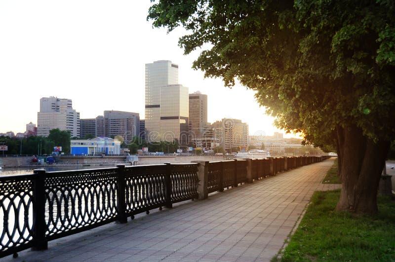 miasto centrum świt zdjęcie stock